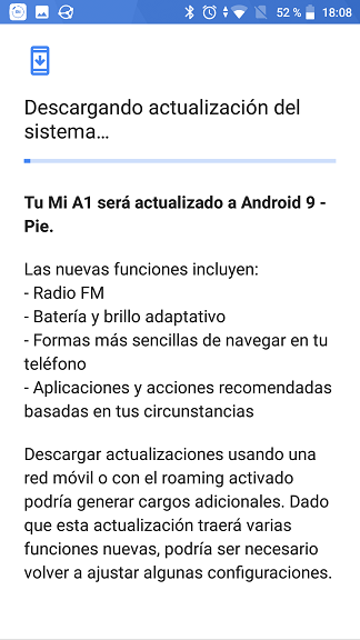 Android 9 - Descarga